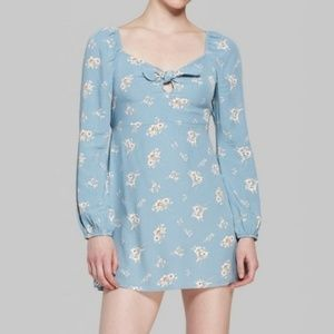 Wild Fable Long Sleeve Rayon Floral Mini Dress